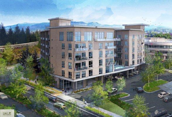Digital rendering of 35 Club Apartments