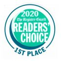 2020 Register-Guard Readers' Choice 1st Place Award