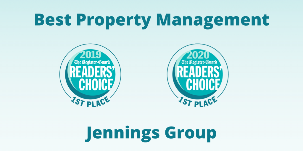 Jennings Group Best Property Management Awards for 2019 and 2020